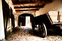 Chariot en bois de ferme Images stock