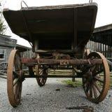 Chariot en bois occidental Photographie stock libre de droits