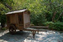 Chariot est de ville antique d'exposition de Dion de thé de thé de vallée de Shenzhen Meisha d'OCT. Image libre de droits