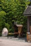 Chariot est de ville antique d'exposition de Dion de thé de thé de vallée de Shenzhen Meisha d'OCT. Images libres de droits