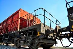 Chariot ferroviaire de fret Images stock