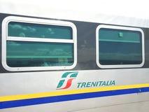 Chariot ferroviaire de Trenitalia, détail Image stock