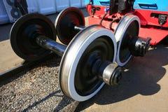 Chariot ferroviaire en acier Image stock