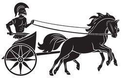 Chariot. The figure shows a chariot with a gladiator Royalty Free Stock Photography