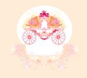 Chariot floral de cru Images libres de droits