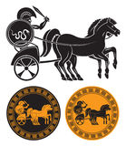Chariot with gladiator. The figure shows a chariot with a gladiator Royalty Free Stock Image