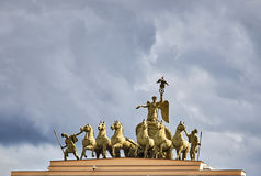 Chariot of Glory. On the arch of the General Staff Building in Saint Petersburg, Russia Stock Photography