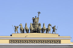 Chariot of Glory on the arch of the General Staff building Stock Photos