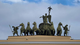 Chariot of Glory. On the General Staff Arch. Saint-Petersburg, Russia Royalty Free Stock Image