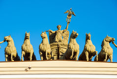 Chariot of Glory, St Petersburg, Russia Royalty Free Stock Images