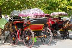 Chariot grec de cheval Image libre de droits