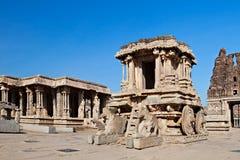 Chariot, Hampi, India. Chariot in Vittala temple, Hampi, India Royalty Free Stock Photography