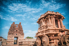 Chariot. Its been taken in Hampi royalty free stock photo