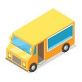 Chariot jaune pour l'exécution de la nourriture de rue illustration de vecteur