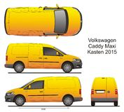 Chariot Maxi Kasten 2015 de VW Photo libre de droits
