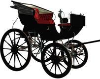 Chariot noir de vintage illustration libre de droits