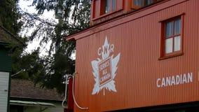 Chariot orange, chemin de fer canadien banque de vidéos