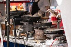Chariot oriental de nourriture de poulet images libres de droits