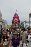 The Chariot passing on Ocean Front Walk street in the 37th Annual Festival of the Chariots Stock Photography