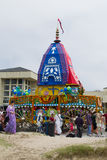 The Chariot passing on Ocean Front Walk street in the 37th Annual Festival of the Chariots Royalty Free Stock Photos