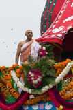 Chariot with picture of Srila Prabhupada in the 37th Annual Festival of the Chariots Stock Photography