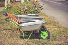 Chariot pour des déchets image libre de droits