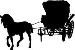 Chariot pour la princesse Photo stock