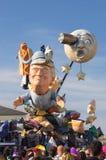 Chariot - rêve de lune, carnaval de Viareggio, Toscane, Italie photographie stock libre de droits