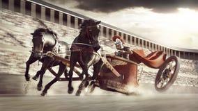 Chariot race Stock Photo