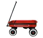 Chariot rouge de jouet Photos libres de droits