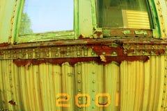 Chariot rouillé de train dans Conway du nord, New Hampshire images stock