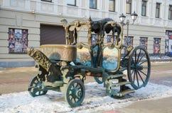 Chariot royal de monument de Catherine II Image stock