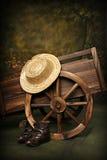 Chariot rustique photo libre de droits