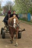 Chariot rustique de cheval Photographie stock