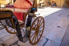 Chariot sur la rue à Malte Images libres de droits