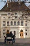Chariot sur les rues de la ville de Vienne Photos stock