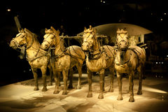 Chariot from the Terracotta Army  in Xi'An Stock Image