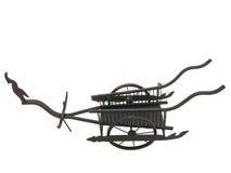 Chariot thaïlandais de reproduction sur le fond blanc photos stock