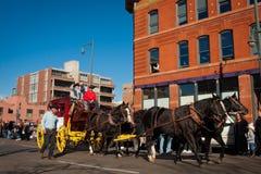 Chariot tiré par des chevaux Image libre de droits