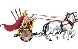 Chariot Vector Illustration. A vector illustration of a warrior driving a horse drawn chariot vector illustration