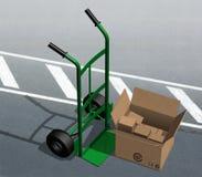 Chariot vert Illustration Stock