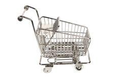 Chariot vide à achats Images libres de droits