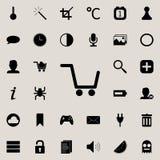 chariot vide dans l'icône de magasin Ensemble détaillé d'icônes minimalistic Conception graphique de la meilleure qualité Une des illustration de vecteur