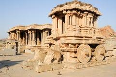 Chariot in Vittala temple at Hampi Royalty Free Stock Photos