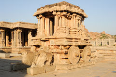Chariot in Vittala temple at Hampi Royalty Free Stock Photo