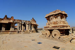 Chariot in the vittalla temple in Hampi. Royalty Free Stock Image