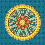 Chariot wheel, Sun temple Konark. Vector design of chariot wheel, Sun temple Konark in Indian art style Stock Photos