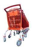 Chariots à achats Photographie stock libre de droits