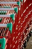 Chariots à supermarché Photos stock