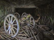 Chariots abandonnés Photos stock